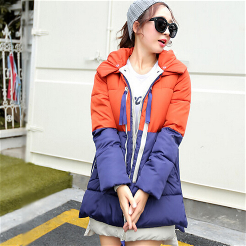 2xl La orange Parkas Blue Femmes Nouvelle Vogue Vestes Taille Manteau Militaire Capuchon À Bas Plus Vers Le Veste Pink Femelle Casual De Gray blue Hiver Coton Yellow C1255 M Black Red pink green qppUnfXxw1
