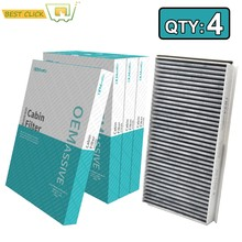 4x Auto Pollen Cabin Air Filter Für BMW 5 6 Serie Alpina B5 B6 E60 E61 E63 E64 520i 523i 525i 528i 535i 64319171858 64316935823(China)