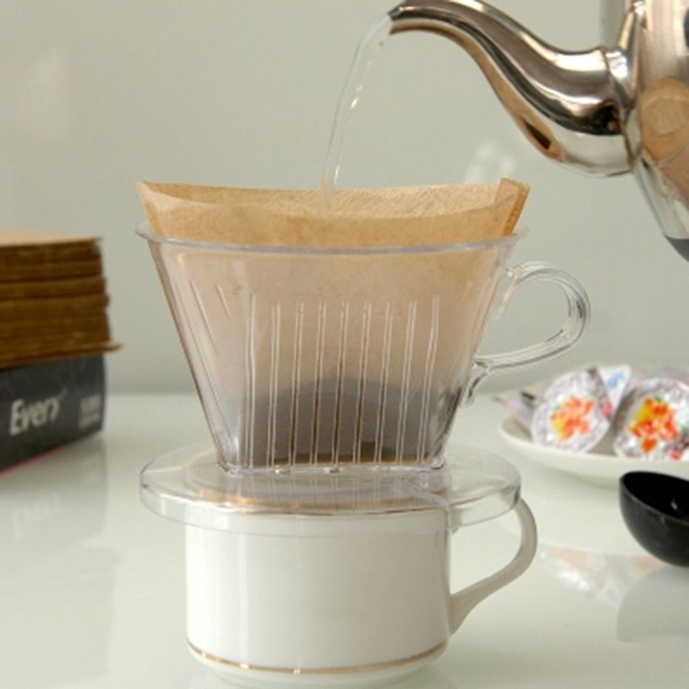 PP Resin Coffee Filter Cup Coffee Drip Bowls Manually Follicular Filters Coffee Tea Tools