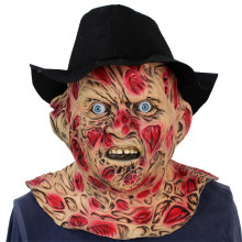 Latex A Nightmare On Elm Street Masker Cosplay Kostuum Freddy Krueger Masker Grappig Terreur Halloween Party Kostuum Movie Props(China)