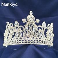 Nankiya Shining AAA Zircon Crown Jewelry Accessories Fairy Headdress Crowns Girls Princess Party Celebration Hair Tiaras NT3628
