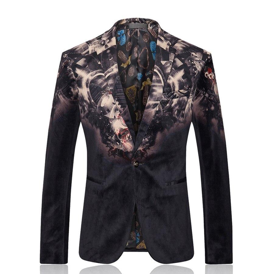 Здесь продается  Men Slim Fit Dress Blazer Jacket Brand Design Print Casual Business Blazer Suit Male Cotton Business Wedding Suit Blazer SL-E183  Одежда и аксессуары