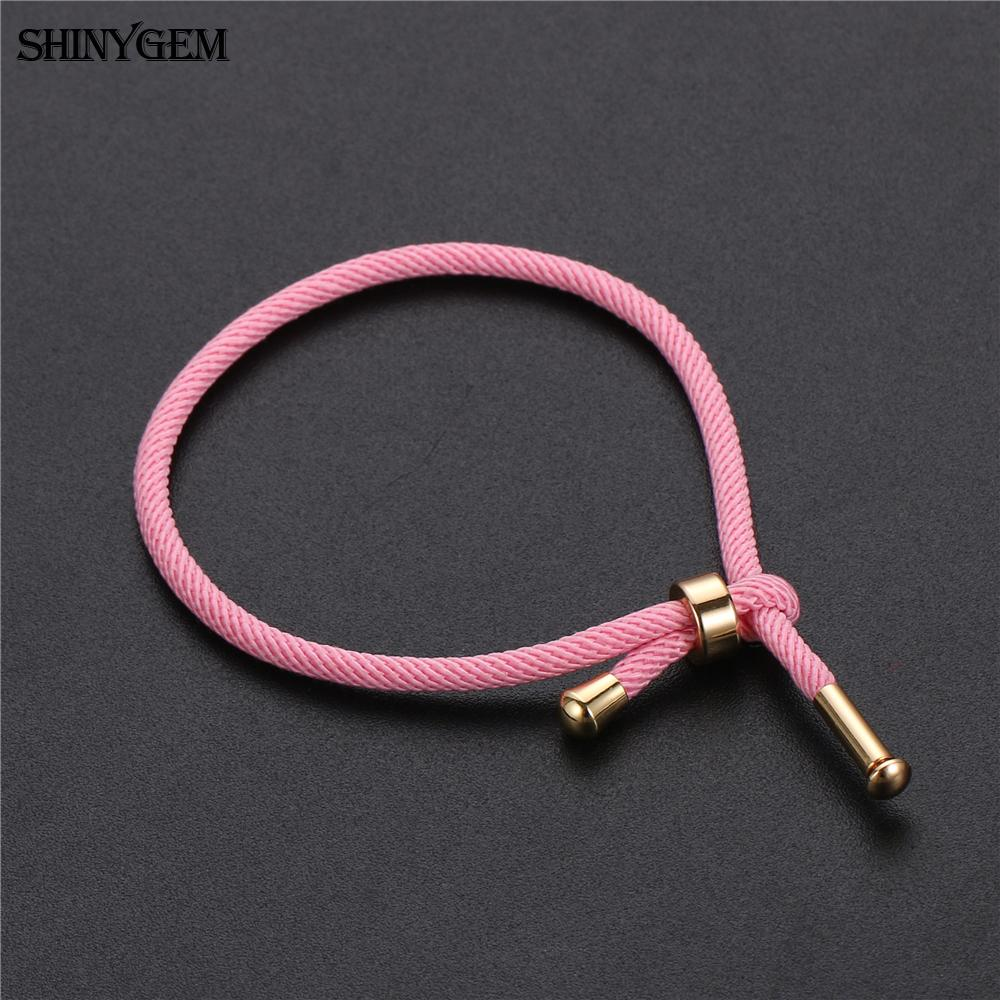 ShinyGem Minimalism Thread Rope Bracelets 15 Colors Adjustable String Couple Bracelets Handmade Tennis Yoga Bracelets For Women in Chain Link Bracelets from Jewelry Accessories