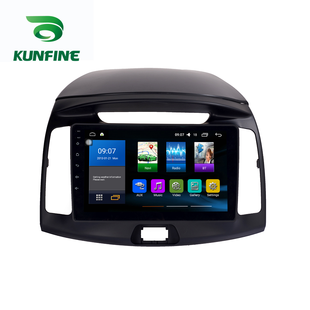 Octa Core 1024*600 Android 8.1 Auto DVD GPS Navigation-Player Deckless Auto Stereo Für <font><b>Hyundai</b></font> <font><b>Elantra</b></font> 2011-16 radio Steuergerät WIFI image