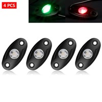 LAGUTE LED Rock Light Glow Light Lamp Trail Fender Lighting IP67 Waterproof For Off Road Boat