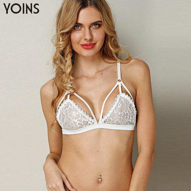 YOINS 2017 Hot Sexy Женщин Кружева Крючком Bralette Bralet Бюстгальтер Бюстье Растениеводство Топ Cami Неприкрытая Топы