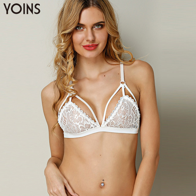 YOINS 2017 Hot Sexy Womens Lace Crochet Unpadded Bralette Bralet Bra Bustier Top Colheita Cami Regatas