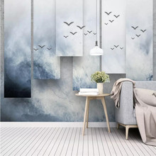 Creative 3d wallpaper three-dimensional ink landscape TV background wall custom mural photo