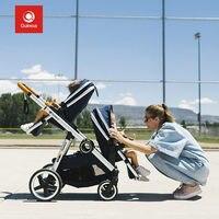 Quintus/Qtus Quintas красивый пейзаж для детей коляска двойной коляска для малышей близнецов может сидеть лежачие новорожденных свет портативный