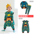 Newest Korean Baby Rompers Cartoon Crwon Lion Children Anti-kick Cotton Sleeping Bag Infant Vestido Infantil Baby Boy Clothes