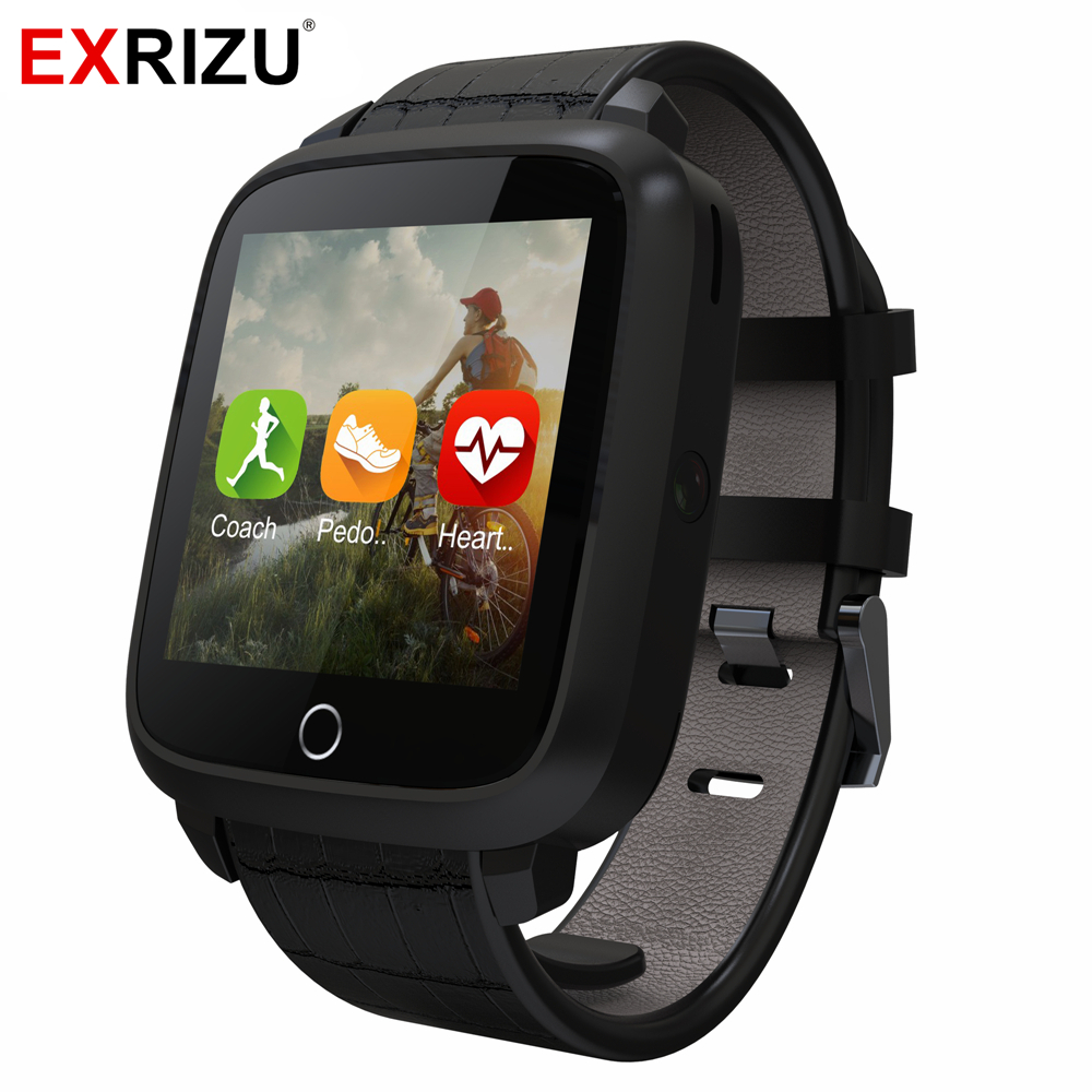 EXRIZU U11s Fashion Business Watch 1G RAM 8G ROM MTK6580 Quad Core WIFI Bluetooth GPS Heart Rate Monitor Android 5.1 Smart Watch no 1 d6 1 63 inch 3g smartwatch phone android 5 1 mtk6580 quad core 1 3ghz 1gb ram gps wifi bluetooth 4 0 heart rate monitoring