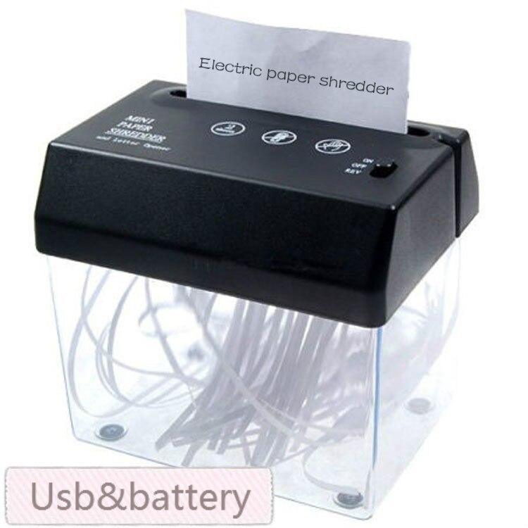 Brand New Desktop A5 O A4 Carta Piegata Strip-cut Mini Piccolo Usb Shredder & Letter Opener Per La Casa/ufficio, libero Senza Batterie