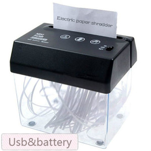 Brand New Desktop A5 Or A4 Folded Paper Strip-cut Mini Small Usb Shredder & Letter Opener For Home/office,shipping No Batteries