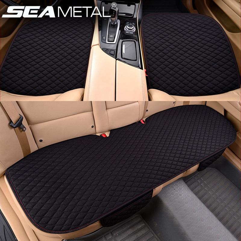 Auto Sitzbezüge Set Kissen Vier Saison Allgemeinen Matte Abdeckung Auto Anti-Slip Atmungsaktiv Für Auto Home Autos Interior zubehör