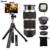 2017 Kit de Lentes de ojo de Pez de Gran Angular Macro Lente Móvil 8X Zoom teleobjetivo telescopio trípode monopod para iphone 5 6 7 s huawei