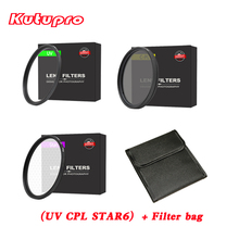 kutupro PRO star6+CpL+uv Camera Lens Filter + filter bag case kit for nikon canon sony pentax 52 58 62 67 72 77 82mm