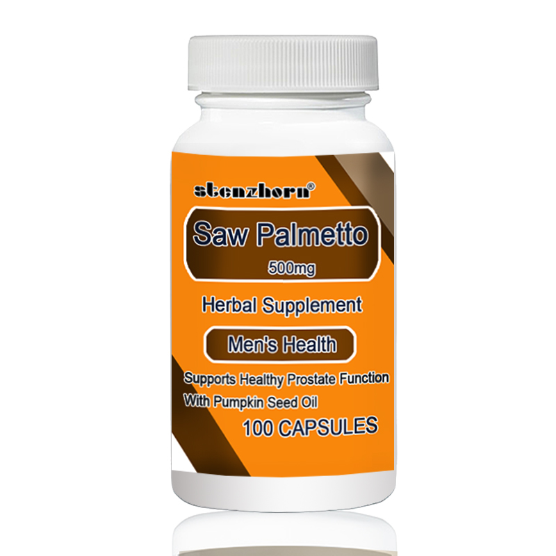 Saw Palmetto 500mg 100pcs Supports Healthy Prostate Function With Pumpkin Seed Oil