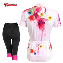 Tasdan Womens Cycling Sets Jersey Bicycle Cycling Clothings Tights Gel Pad Pants Cycling Accessories Sports Clothing Suits