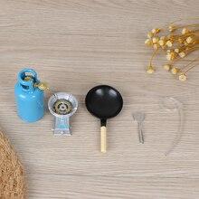 Dollhouse Miniature Kitchen-Toys Gas-Stove Utensils-Tool Food-Girls Children for Tank