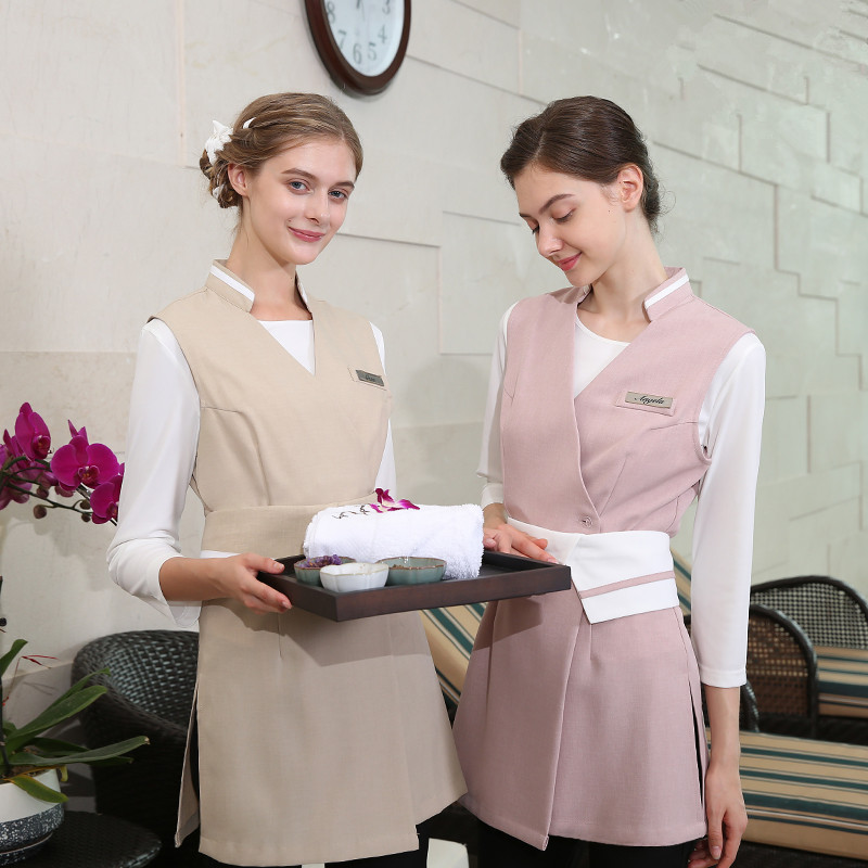 Nice Beauty Salon Clothing Womens High Quality Spa 3 Piece Set tshirt+vest+pants Uniform Nail Specialist Work Wear Hospital Uniform Fine Quality