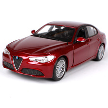 Bburago 1:24 alfa romeo gulia red wine blue car diecast 190*85*58mm motorcar collecting car models for men 21080 maisto 1 24 2009 gtr35 white car diecast for nissan police open car doors car model motorcar diecast for men collecting 32512