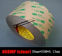 1x 30mm Width 55 Meters Length 0 13mm Thickness 3M 468MP 2 Sided Adhesive Transfer Tape