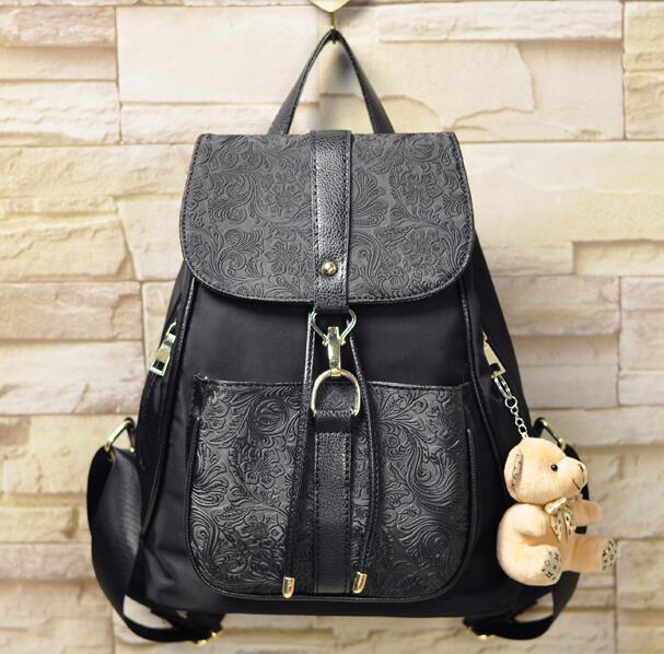 The new 2016 fashion leisure fashion female bag backpack tourism nylon bag