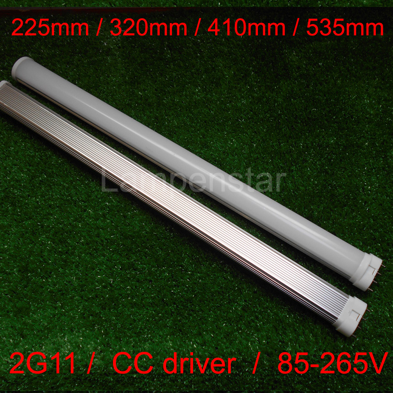 Real power 2G11 LED Light 2G11 Tube LED 9W 12W 15W 18W 22W 36WSMD2835 Diffused Cover AC85--265V Warm/Cool White Free Shipping 4 pin 2g11 9w 12w 15w 18w 22w 25w 36w 2g11 led lamp tube bulb nature white cool white warm white ac85 265v spotlight 180 degree