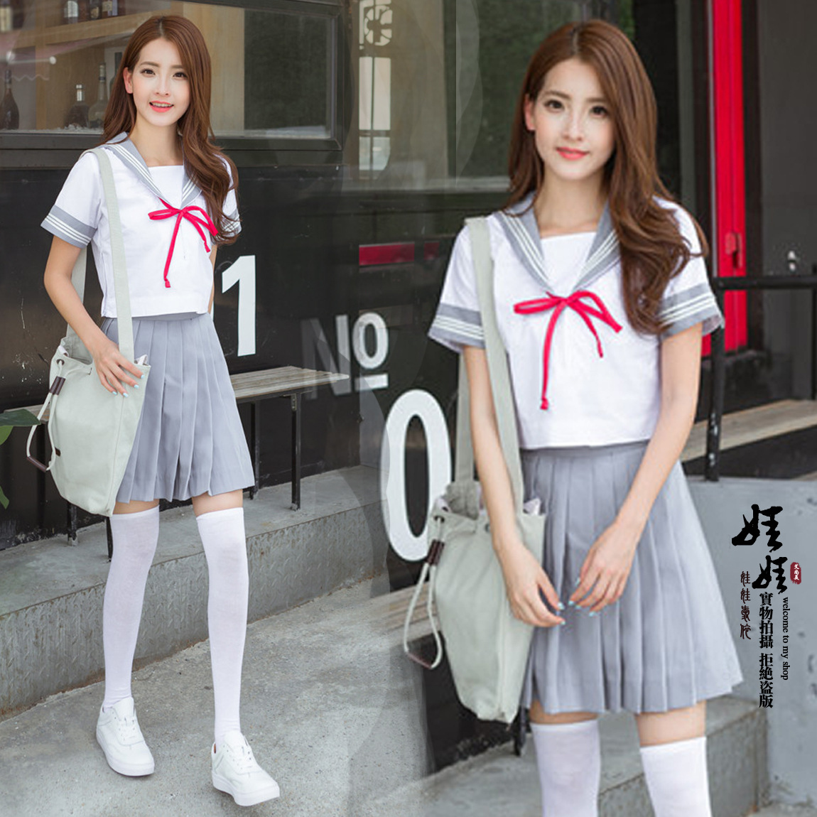 2018 New Arrival Japanese School Girl Uniform Short Sleeved Summer Sailors Suits Middle School Students Cute Uniforms Cosplay
