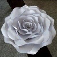 Dev Kağıt Gül Tırmanmak Kart Stoğu Dekoratif Çiçekler 16 adet Sahne Düğün Parti Olay Arka Plan Süslemeleri decoracao de festa