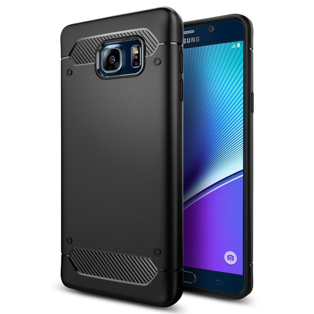 cheaper ddb63 a3b6c US $16.99 |Aliantech Rugged Armor Case for Galaxy Note 5 RINGKE ONYX Drop  Resistance Soft TPU Back Cover Cases For Samsung Galaxy Note 5-in Fitted ...