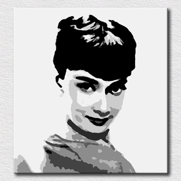 Portrait pictures for bedroom modern canvas art high quality decoration oil painting pop art reproduction artwork