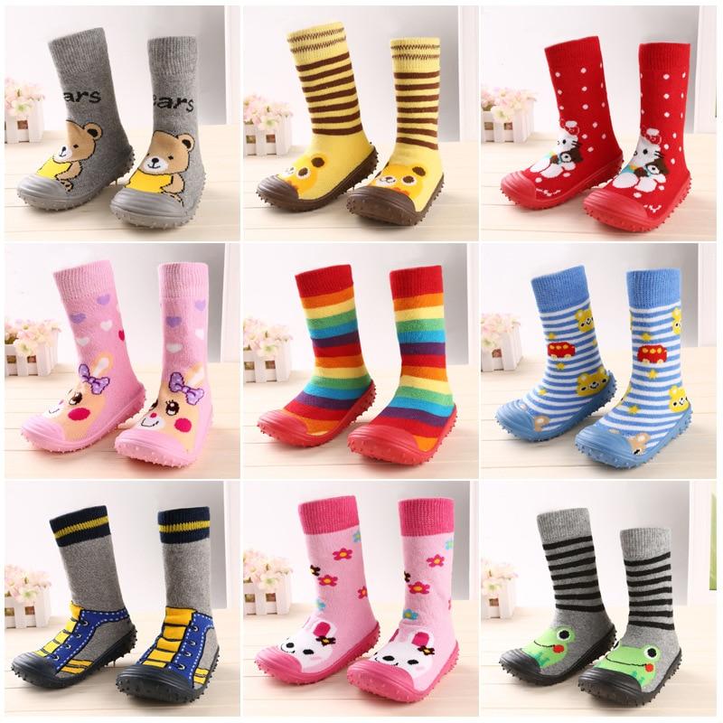 Fashion Newborn Baby Boy Girl Socks Boot Anti-Slip Newborn Toddler Moccasins Attipas Same Design Kids Shoes Breathable