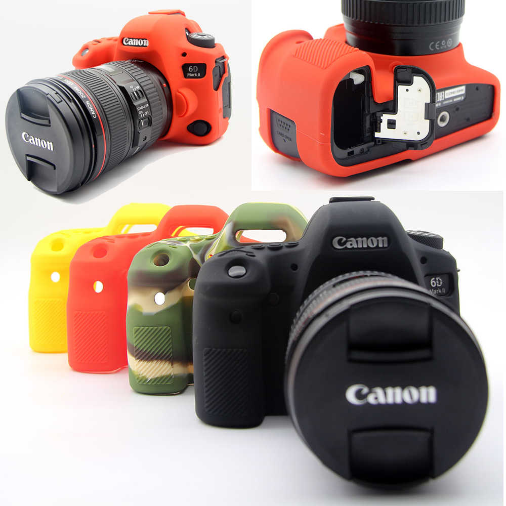Camera Bag Case For Canon 6D2 6D Mark II Silicone Cover Case Rubber Camera  Cover for 6D Mark 2 Protective Body Cover Skin