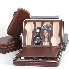 купить Fashion Quality 8 Grids Leather Watch Box Luxury Zipper style for travelling storage Jewelry Watch Collector Cases Organizer Box по цене 2330.39 рублей