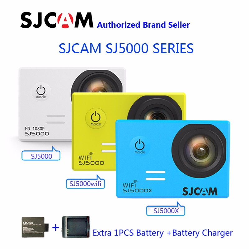 SJCAM SJ5000 Series SJ5000 & SJ5000 WIFI & SJ5000X Elite WiFi 4K Gyro Sports Action Camerar original sjcam sj5000x elite sj5000 plus sj5000 wifi sj5000 30m waterproof sports action camera sj cam dv with many accessories