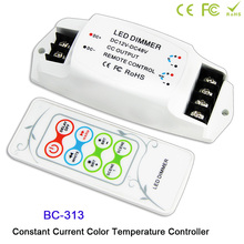 BC-313 DC12V-48V 350MA/700MA led constant current PWM Color Temperature Controller with wireless RF remote for light