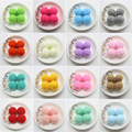 30Pcs 30mm Red Pink White Black Green Blue Yellow Plush Ball Pompom DIY Wedding Decoration Festival Events Supplies Accessories