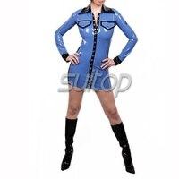 100% ручная работа Резина Зентаи Латекс тело костюм сексуальный костюм