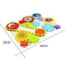 цена на 2019 New Gears Building Blocks Children's Plastic DIY Blocks Toy Kids Educational Toy Assemblage Colorful Model Kit Gift