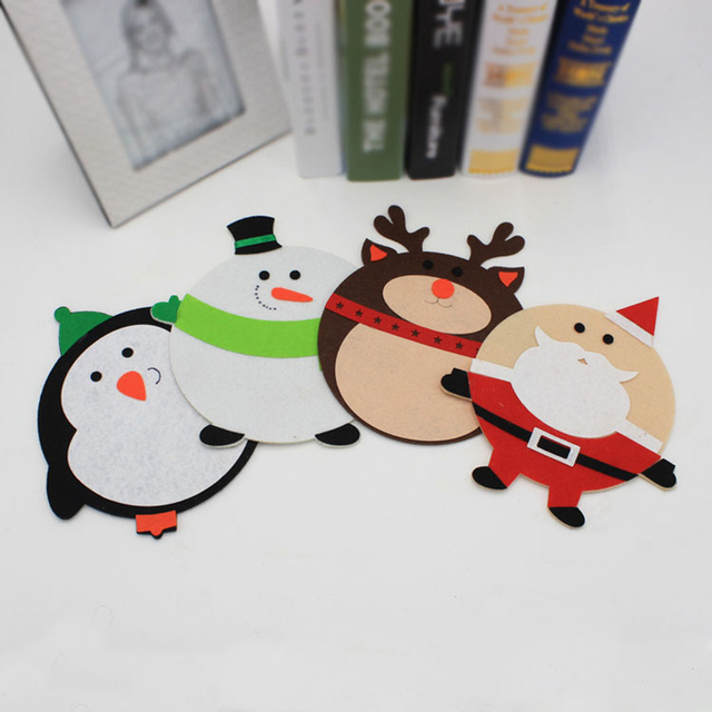 creative christmas decorations xmas penguinsnowmandeersanta claus shape mouse pad mat