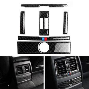 Image 1 - Для BMW 3 серии GT F30 F34 2013 2014 2015 Автомобильный Центр управления кондиционер вентиляционное отверстие рамка из углеродного волокна крышка наклейка