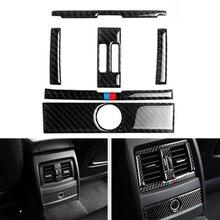 Für BMW 3 Serie GT F30 F34 2013 2014 2015 Auto Center Control Air Zustand Air Vent Outlet Rahmen Carbon faser Abdeckung Aufkleber