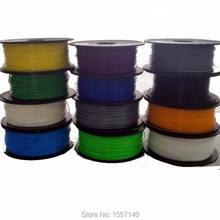 20 Colors 200M (0.5KG) 3D Printer Filament ABS 1.75mm 3D Printing Materials For 3D Pen 3D Printer