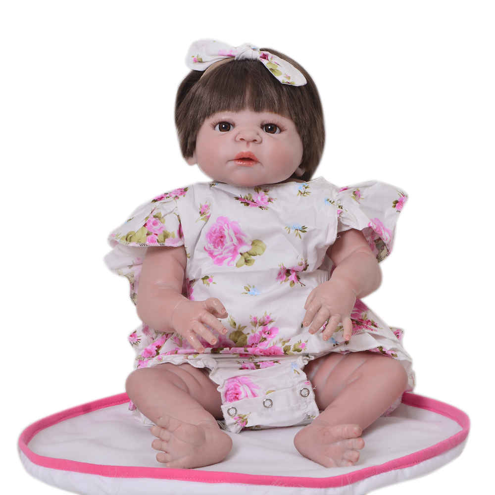 New 23 Inch Cute Princess Baby Toys Full Silicone Vinyl Dolls Reborn Babies Realistic 57 cm Newborn Doll For Birthday Gift 23 inch girl toys realistic baby doll reborn girls dolls baby full silicone vinyl newborn babies kids birthday christmas gift