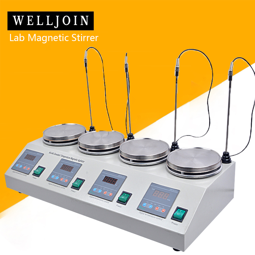 4 Heads Multi Unit Digital Display Thermostatic Lab Magnetic Stirrer Mixer Hotplate Blending Mixing Stirring Machine Agitator