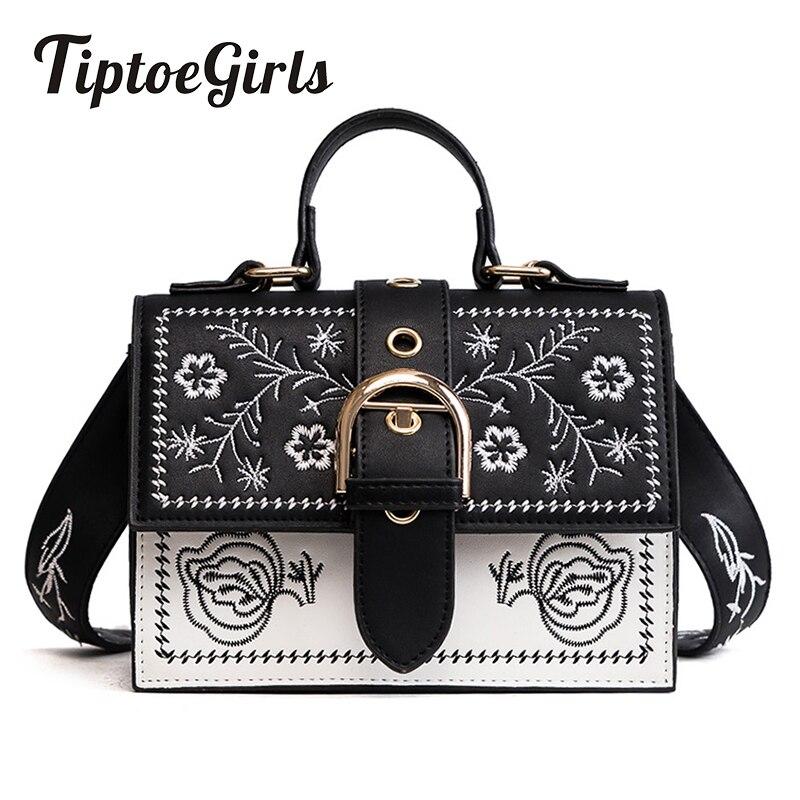 Tiptoegirls Fashion Women Bags Small Embroidery Women Shoulder Bags Small Flap Messenger Bags Ladies Handbags Dropshipping