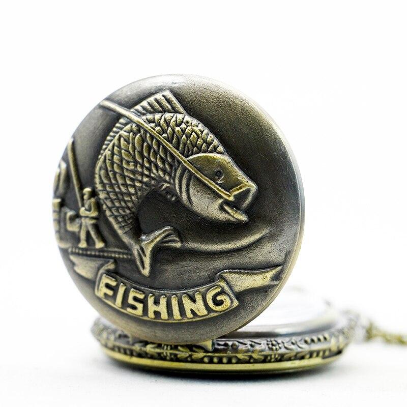 PB381-Vintage-Gifts-Fish-Pattern-Pocket-Watch-Quart-Chain-Necklace-Bronze-Full-Hunter-TD2033 (2)