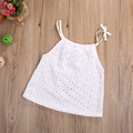 Toddler Baby Girl Clothing Top Crochet Hollow Lace little Girl t shirt Newborn Kids braces Top Camisole 0-3T