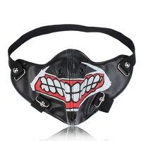 Модные маски для лица из искусственной кожи мотоциклетные маски дышащие хип-хоп панк halloweвечерние Y черные маски с большим ртом